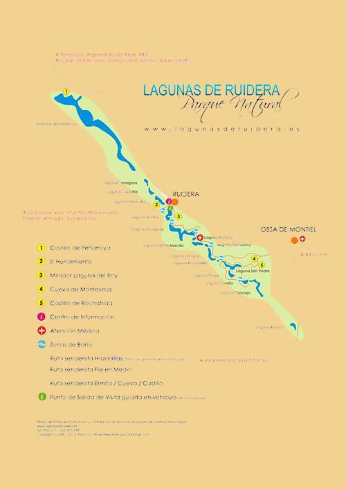 Plano Lagunas de Ruidera